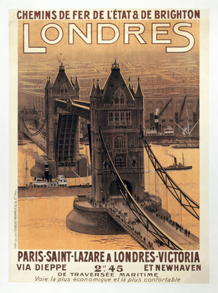 London, French poster, c 1930s.