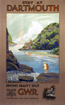 'Stay at Dartmouth', GWR poster, 1930s.