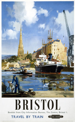 'Bristol - Travel by Train', BR (WR) poster, 1948-1965.