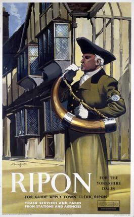 'Ripon', BR (NER) poster, 1960-1961.
