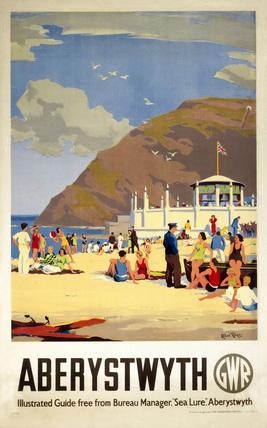 Aberystwyth, GWR poster, c 1930s.
