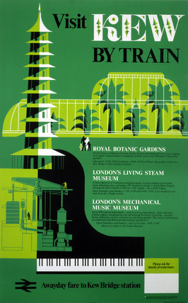 'Visit Kew by Train', BR poster, 1978.
