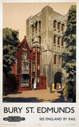 'Bury St Edmunds', BR (ER) poster, 1948-1965.