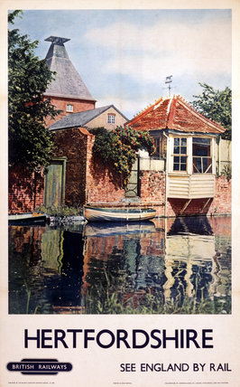 'Hertfordshire', BR (ER) poster, 1948-1965.