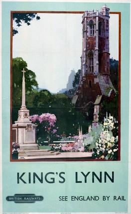 'King's Lynn', BR poster, 1948-63.