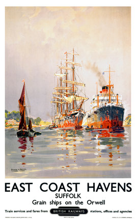 'East Coast Havens', BR (ER) poster, c 1950s.