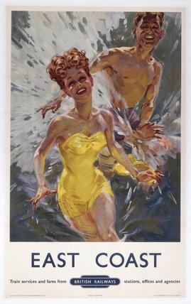 'East Coast', BR(ER) poster, 1948-1964. Pos