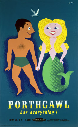 'Porthcawl has Everything!', BR poster, 1960.