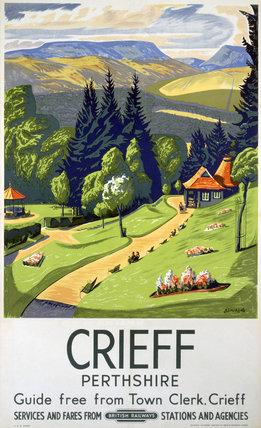 'Crieff', BR poster, 1948-1965.
