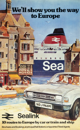 'We'll Show You the Way to Europe', BR poster, 1974.