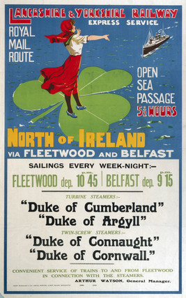 'North of Ireland', LYR poster, 1895-1910.