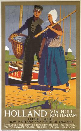 'Holland via Hull-Rotterdam', LNER poster, 1923-1947.