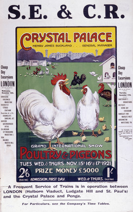 'Crystal Palace', SE&CR poster, 1921.