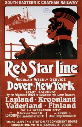 'Red Star Line', SECR poster,1912.