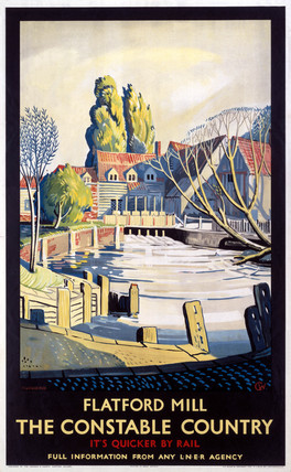 'Flatford Mill', LNER poster, 1923-1947.