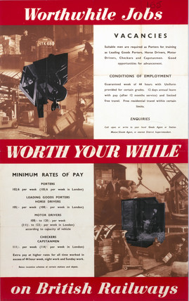 'Worthwhile Jobs on British Railways', BR poster, 1951.