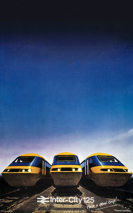 'Inter-City 125, the Journey Shrinker', BR poster, 1979.