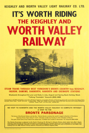 Keighley and Worth Valley Light Railway, poster, c 1970s.