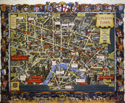 'London Town', BR poster, 1948-1965.