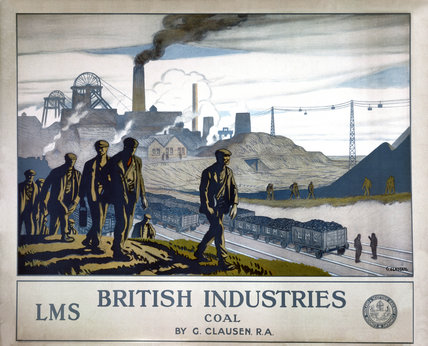 'British Industries - Coal', LMS poster, 1924.