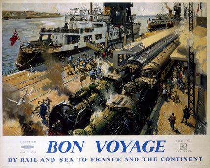 'Bon Voyage' BR(SR) poster, c 1950s.
