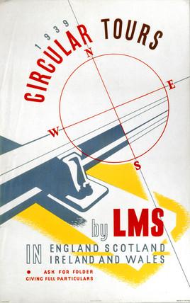'Circular Tours', LMS poster, 1939.