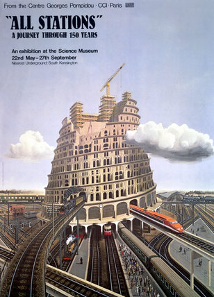 'All Stations: A Journey Through 150 Years', SM poster, c 1970s.