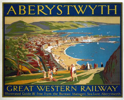 'Aberystwyth', GWR poster, 1923-1947.