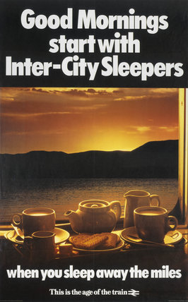 'Good Mornings start with Inter-City Sleepers', BR poster, 1980.