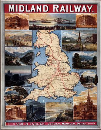 'Midland Railway', MR poster c 1900.