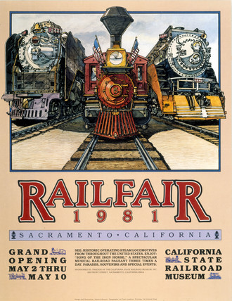 'Railfare', poster, 1981.
