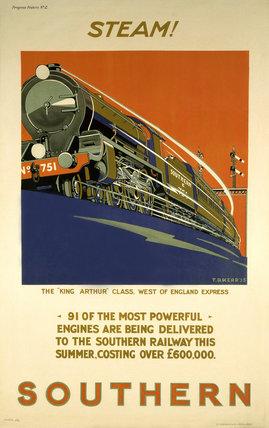 'Steam!', SR poster, 1925.