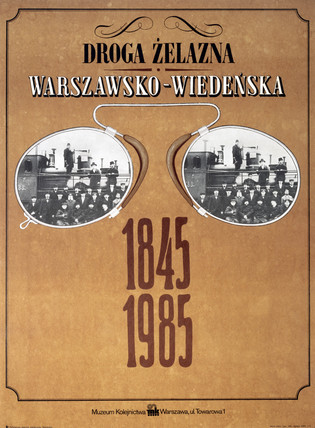 Polish railway museum exhibition poster, 1985.
