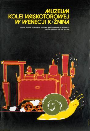 Kolei Waskotorowej Museum poster, 1984.