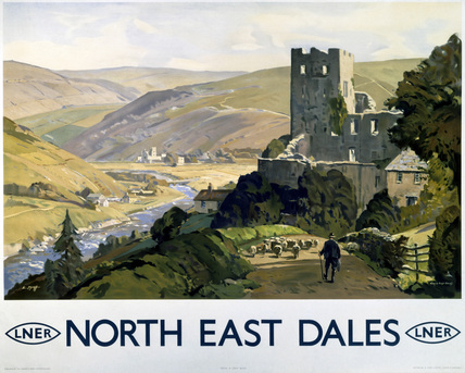 'North East Dales', LNER poster, 1930.