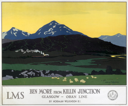'Ben More from Killin Junction', LMS poster, 1923-1947.