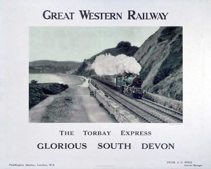 'The Torbay Expres', GWR poster, c 1920s.