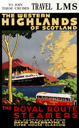 'The Western Highlands of Scotland', LMS poster, c 1920s.