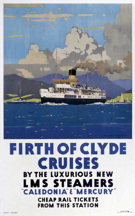 'Firth of Clyde Cruises', LMS poster, 1923-1947.