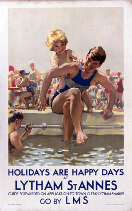 'Holidays are Happy Days at Lytham St Annes', LMS poster, 1923-1947.