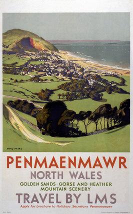 'Penmaenmawr', LMS poster, 1923-1947.