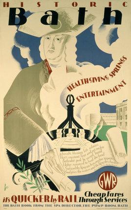 'Historic Bath', GWR poster, 1935.