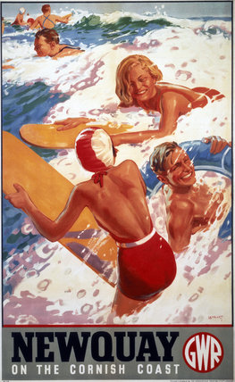 'Newquay', GWR poster, 1937.