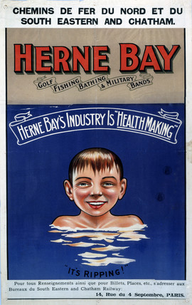 'Herne Bay, it's Ripping!', SE & CR poster, c 1920s.