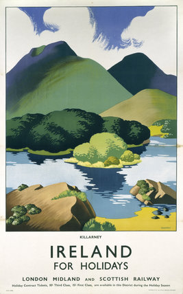 'Ireland for Holidays - Killarney', LMS poster, c 1930s.