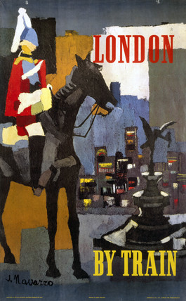 'London by Train', BR (ER) poster, 1923-1947.