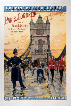 Tower Bridge, London, LBSCR poster, 1900-1922.
