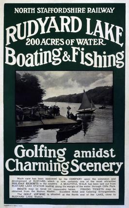 'Rudyard Lake', NSR poster, 1900-1922.