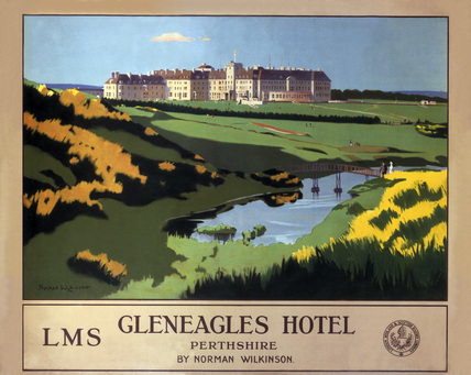 'Gleneagles Hotel', LMS poster, 1924-1947.