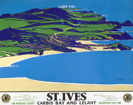 'St Ives', GWR poster, c 1935.